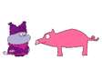 Chowder meets Domestic Pig