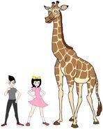 Riley and Elycia meets Angolan Giraffe