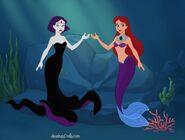 Starfire and Raven mermaids