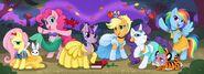 The Mane 6 as Disney Princesses