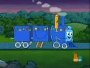 Azul the little blue train with christmas lights by hubfanlover678-d9x7jvn