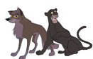Balto and Bagheera