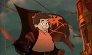Fred as Long John Silver