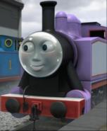 Rosie wearing a space helmet 4