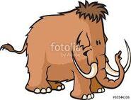 A Cartoon Woolly Mammoth Elephant