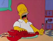 Homer crying
