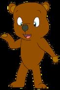 Sam Spacebot teddy bear form toystory in thespacebotsadventuresseries
