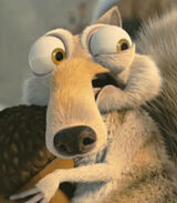 Scrat in Ice Age Dawn of the Dinosaurs