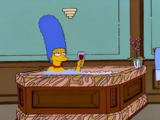 Marge Simpson in a Jacuzzi