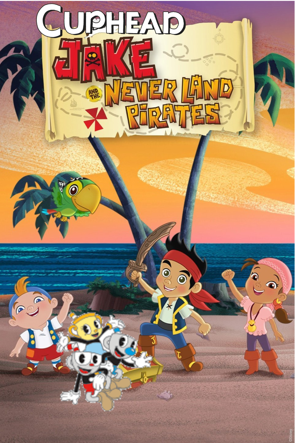 Cuphead, Jake and The Neverland Pirates