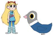 Star meets Rock Pigeon