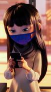 Addie McAllister Wearing Face Mask