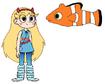Star meets Clown Fish