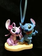 Stitch and Angel Christmas Ornament