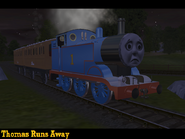 Thomas runs away by newthomasfan89-dagjv3z