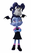 Wolfie on Vampirina's head