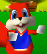 Conker in Diddy Kong Racing