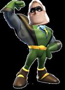Mr. Incredible as Captain Qwark