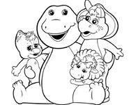 Colorless Barney and his friends