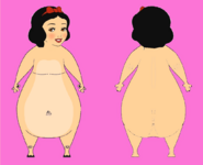 Hippo Snow White Front and Back