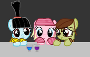 Margo, Edith, and Agnes Ponified