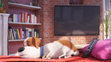 Max (The Secret Life Of Pets) is sleeping in the couch