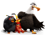 Red, Chuck, Bomb and Mighty Eagle render