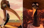 Crane (Kung Fu Panda) and Pavi (Zambezia)