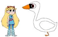 Star meets Mute Swan