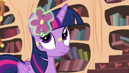 Twilight with flower in her mane S4E15