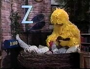 Big Bird, Elmo and Ruthie sleep in the nest together