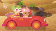 Blossom Flowerpot Drving a Car Whle Dyna Might Rides