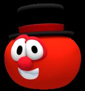 Bob the tomato in a tophat render by nintega dario-dc2po5u