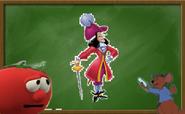 Bob and roo draw captain hook