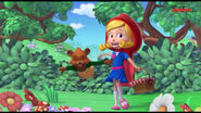 Goldie is Little Red Riding Hood