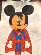 Mickey Mouse mix up as Superman