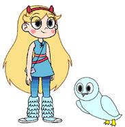 Star meets Snowy Owl