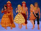 Mufasa, Sarabi, Simba, Nala, Kovu, and Kiara Humanized