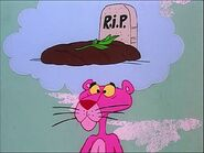 Pink panther thinks that a gopher dies