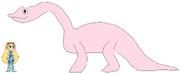 Star meets Apatosaurus