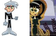 Danny Phantom and Kitty Katswell