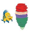 Flounder watches Ariel spinning into a tornado