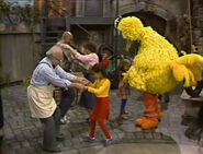 The Sesame Street cast dancing in episode 1497