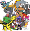 Wally, Norville and Bobgoblin, Libby, Gina, Doug, Sabrina, Ami and Yumi as Jurassic Park Franchise Dinosaurs
