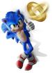 Sonic with Headphones