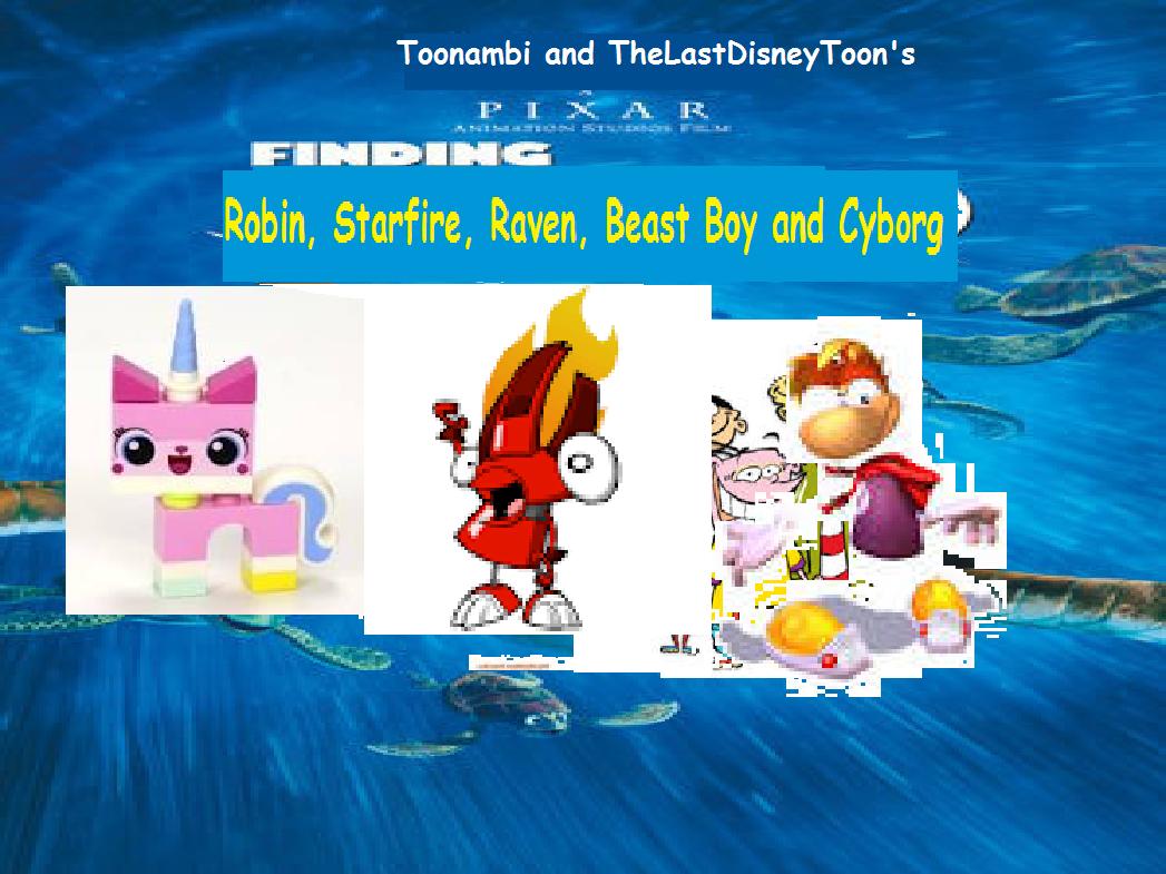 Finding Robin, Starfire, Raven, Beast Boy and Cyborg (TheLastDisneyToon and Toonmbia Style) (Version 3)