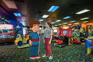 Fred and Kristen at the Coco Key Water Resort Arcade