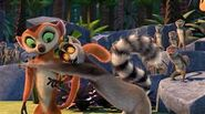King Julien hugs Clover