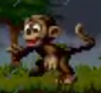 Monkey in the smurfs travel the world