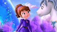 Sofia and her flying unicorn